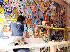 """Primer Puesto: Mural: """"La Sagrada Claridad"""" Grupo: Cuyana-Manizales"""