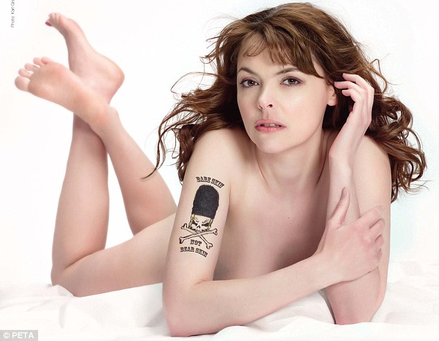 Baring all: Coronation Street actress Kate Ford poses in the nude for Peta ...
