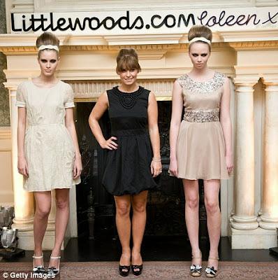 Pint sized: Despite her platform heels, Coleen was no match for the leggy