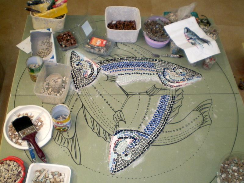 """гобелены, мозаика и живопись: Мозаичное панно """"Рыбы"""": http://yaliya96178gmailcom.blogspot.com/2010/11/blog-post_13.html"""