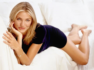 Cameron Diaz With Indigo Dress