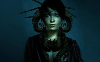 Dark 3D Asian Girl wallpaper and photo