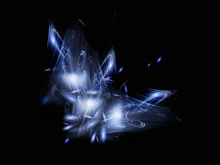 Blue Abstract Flame Wallpaper