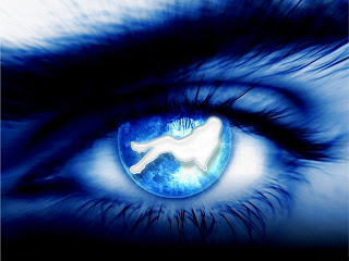 Abstract Blue Eye wallpaper