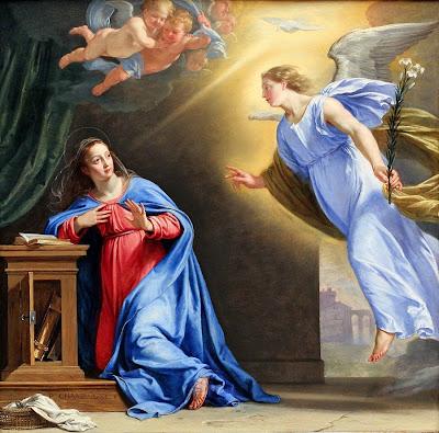 Peb txoj kev hwm Niam Mab Liab AnnunciationPhilippe+de+Champaigne