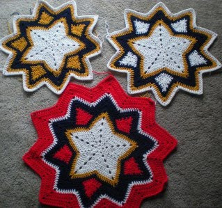 Crochet Pattern 9pointed Popcorn Round Ripple by CrochetDad