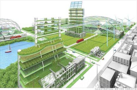 Landscape urbanism vertical agriculture solar access for Terrace farming diagram
