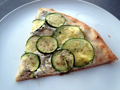 Zucchini-Lemon-Goat Cheese Pizza (adapted from Smitten Kitchen ...