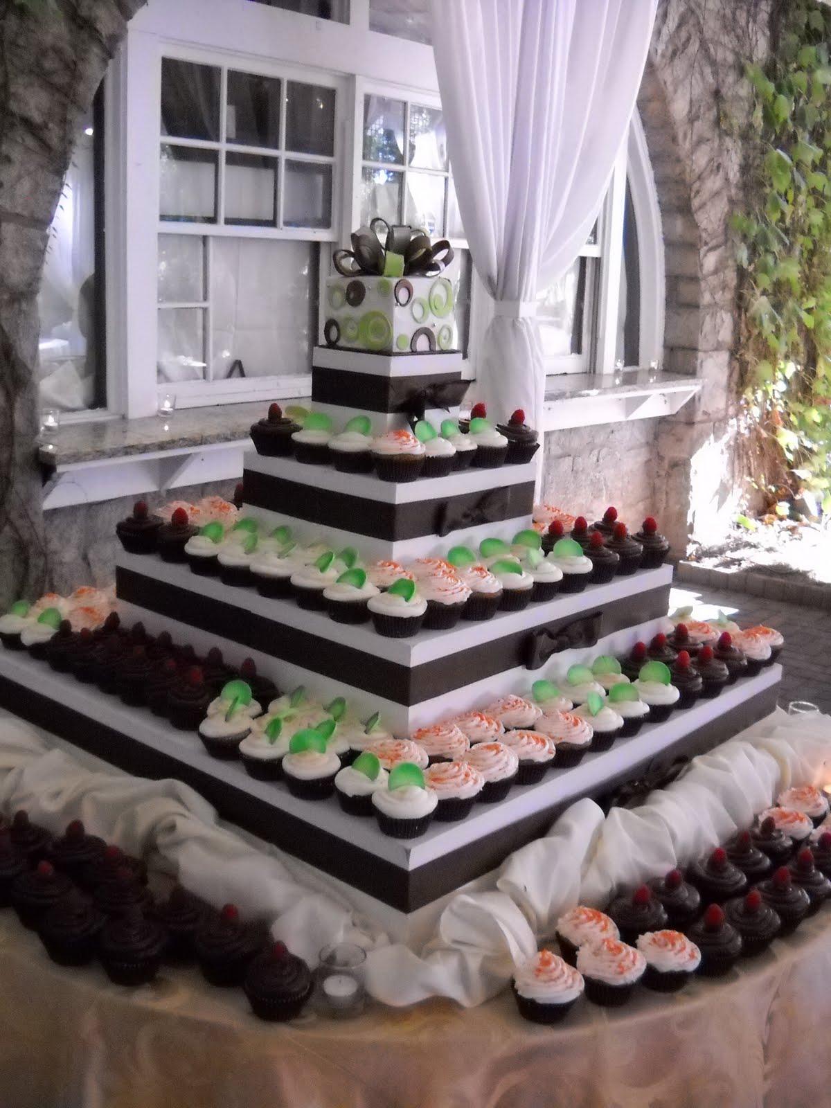 Bánh cưới cupcake 5