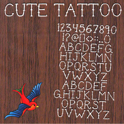 Cute Tattoo font from Dirt2.com, $5
