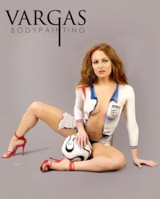 Sexy Girl Soccer Body Painting Gallery