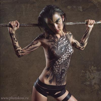 Dragon Body Art