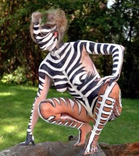 Popular Women Body Painting