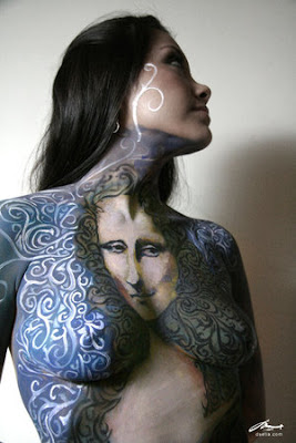 Body painting - Mona Lisa