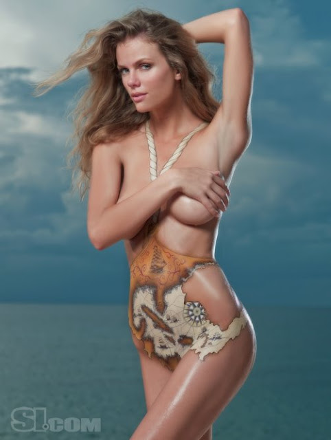 Body Painting Swimsuit Of Brooklyn Decker
