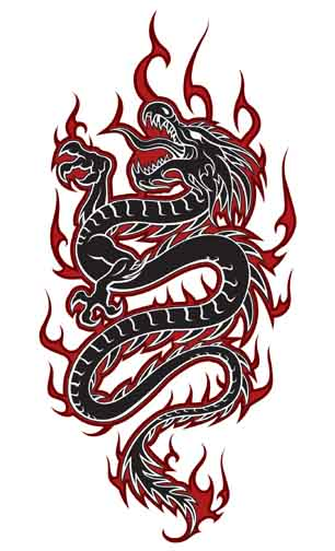 Dragon tattoo art design