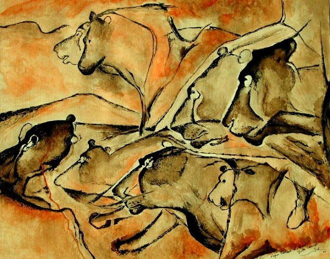 """Panel de las Leonas / Panneau des Lionnes - """"Grotte CHAUVET""""  - Jicé"""