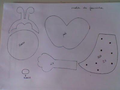 pedido da amiga Cris Rocha, aqui está o molde da joaninha