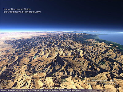 Alborz Mountains, Caspian Sea and Damavand
