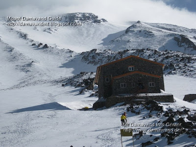 Mt Damavand south route Camp3 Bargah Sevom New Hut