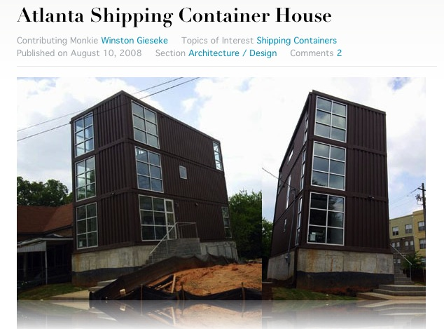 Texas container homes jesse c smith jr consultant december 2009 - Container homes texas ...