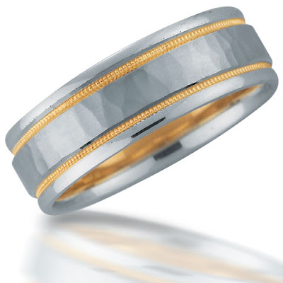 Hammered weddings bands