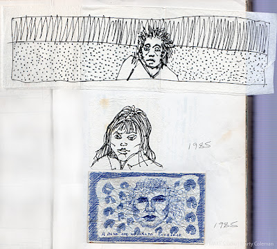 Sketchbook History Tour – 1985, the first known napkins