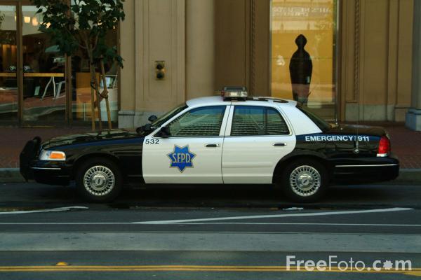 San Francisco Police Department Police Car San Francisco California