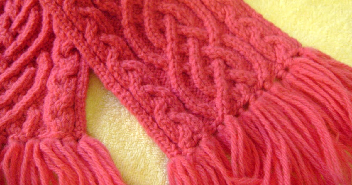 Knitting Pattern Braided Scarf : Ramblings of a Knit Wit: Saxon Double Braided Scarf