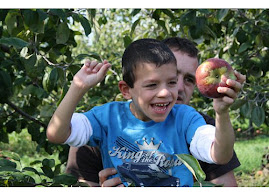 Having fun picking apples