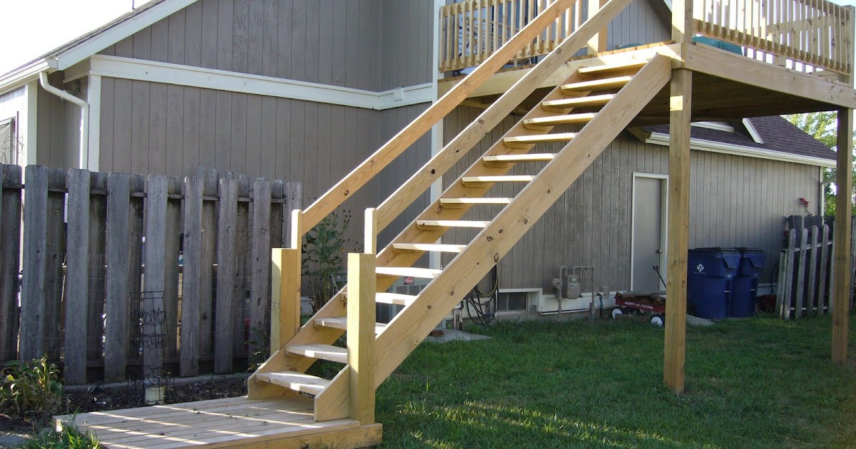 Central Kansas Home Amp Building Repair Exterior Deck Stair