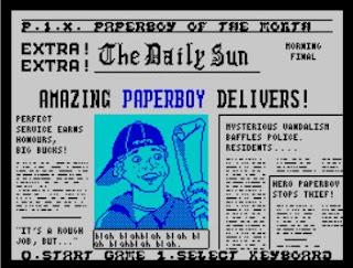 Paperboy ZX Spectrum