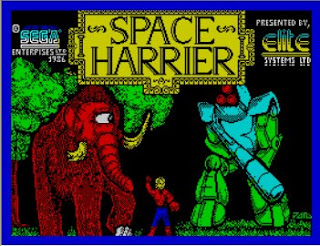 ZX Spectrum games Space Harrier