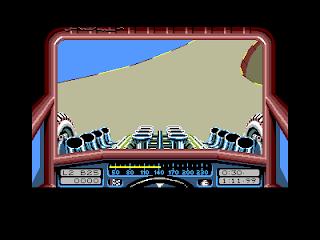 Stunt Car Racer - Speeding round a corner
