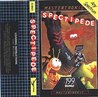 ZX Spectrum Spectipede Cassette Inlay