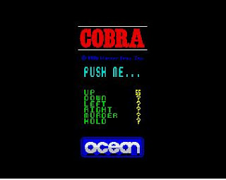 Choosing controls was even funny in Cobra - ZX Spectrum