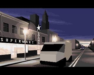 An impressive cut-scene in Robocop 3 on the Amiga