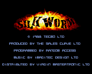 Silkworm starts up on the Amiga