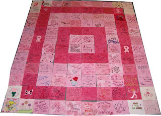 Third Breast Cancer Quilt Layout