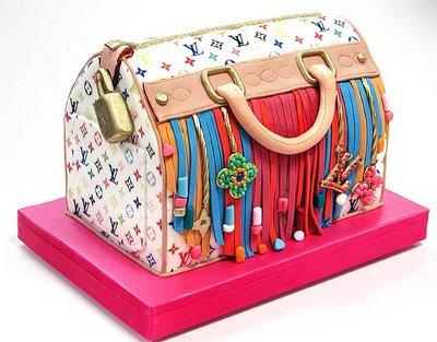 Esse bolo parece uma bolsa autêntica da Louis Vuitton