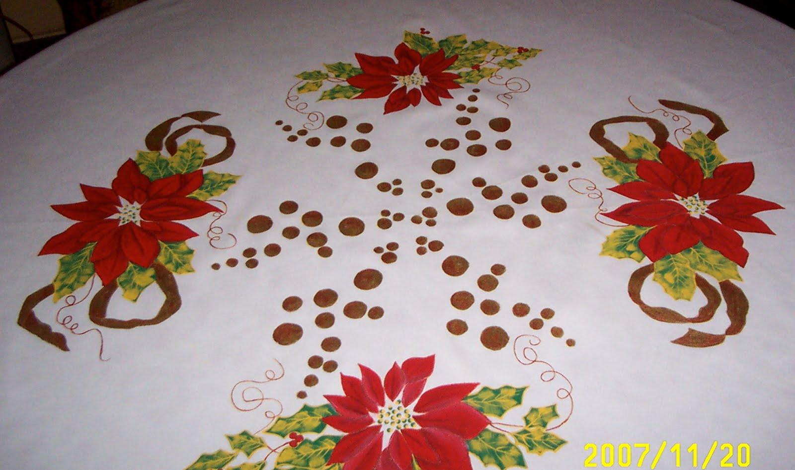 Creatividades latinas taller de navidad - Pintura en tela motivos navidenos ...