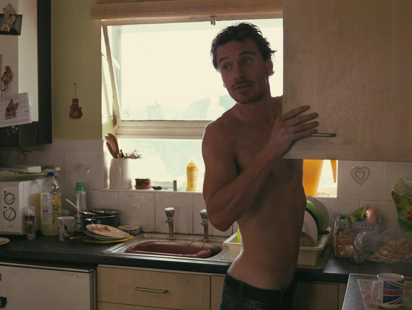michael fassbender shirtless