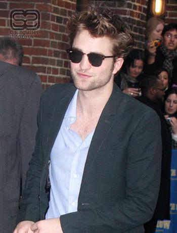 Robert Pattinson Eyebrows on Twilight Saga Star Robert Pattinson Ray Ban 3016 Clubmaster1 Jpg