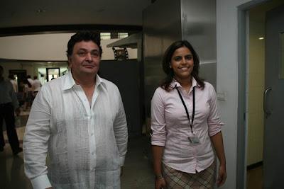 Rishi Kapoor at Whistling Woods International