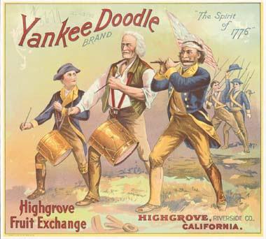 Yankee Doodle brand fruit label
