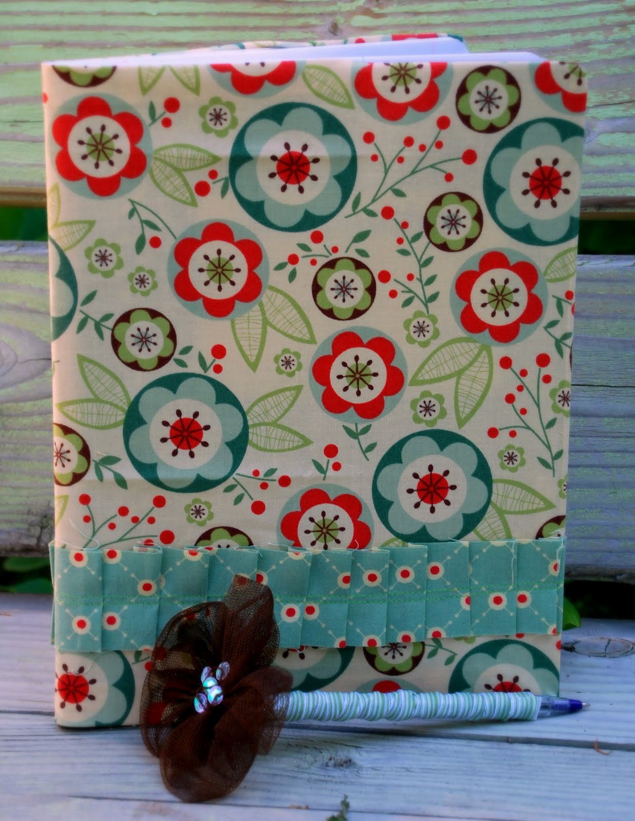 Fabric Composition Book Cover : Yards and original fabric notebook