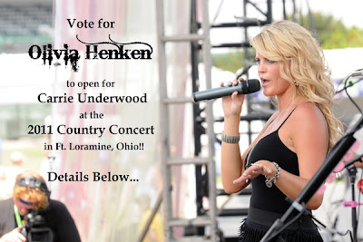 Olivia Henken, NAM, Carrie Underwood, Country concert, Country star, teen pageants, Ohio, National American Miss, Namiss