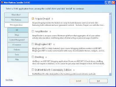 Microsoft Web Platform Installer的網站應用程式
