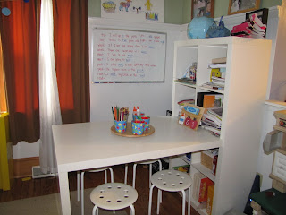 Criswell academy my homeschool area for Homeschool dining room ideas