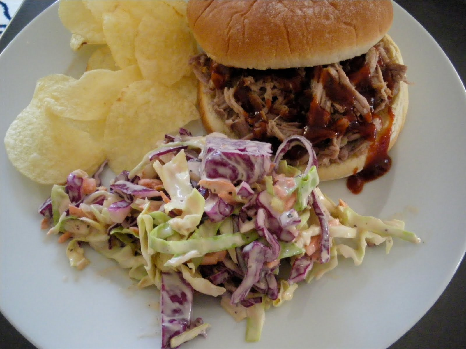 The Scarf and Stripe: southern pulled pork sandwich with coleslaw